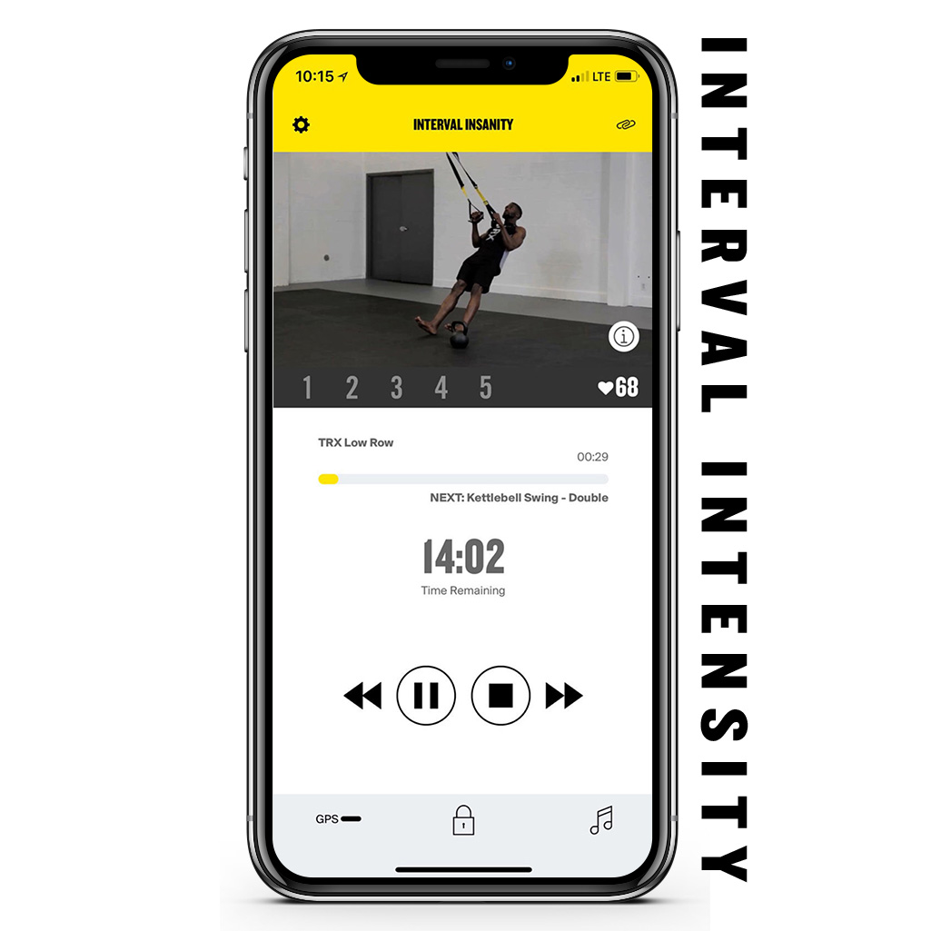 TRX App Interval Intensity